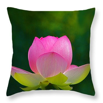 Throw Pillow featuring the photograph Lotus Blossom 842010 by Byron Varvarigos