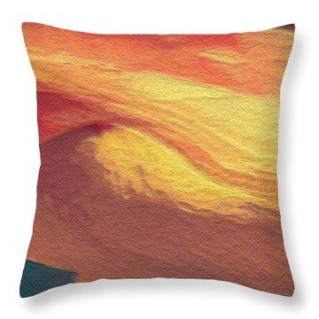 Throw Pillow featuring the digital art Lotus Bud by David Klaboe