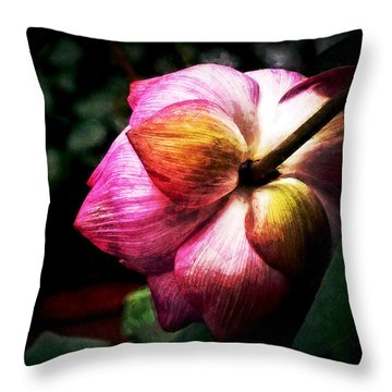 Lotus Throw Pillow by Cameron Wood