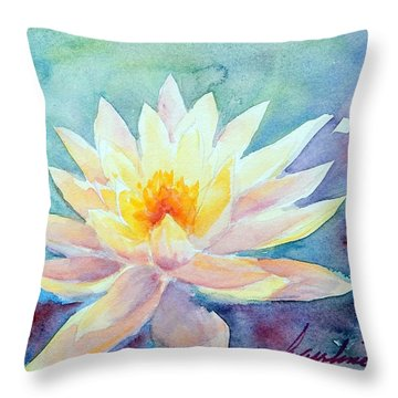 Lotus Awakens Throw Pillow