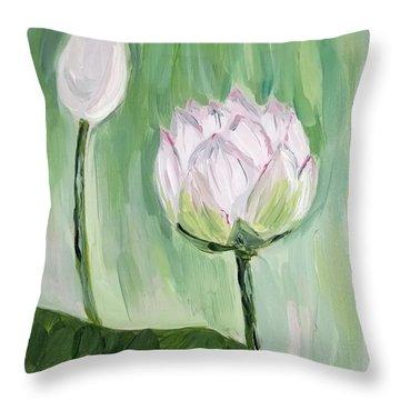 Lotus Emerging Throw Pillow