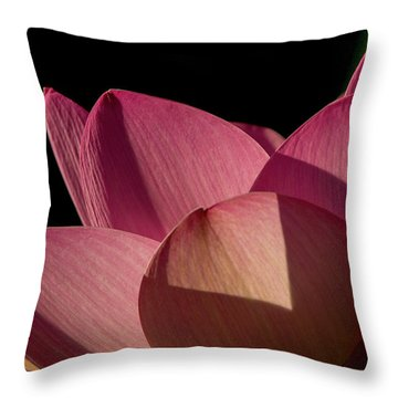 Throw Pillow featuring the photograph Lotus Flower 5 by Buddy Scott