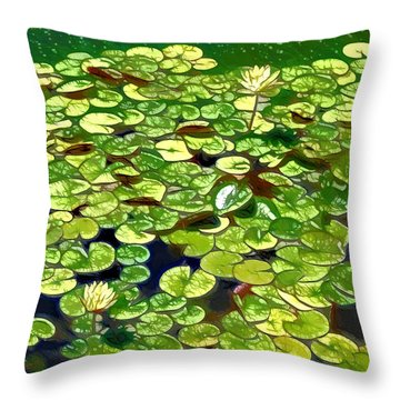 Lotus Flower Born In Water  Throw Pillow by Lanjee Chee