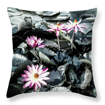 Lotus Flowers Throw Pillow