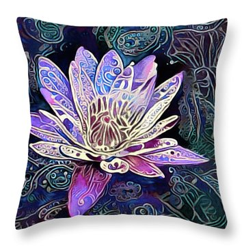 Lotus From The Mud Throw Pillow