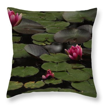 Lotus II Throw Pillow