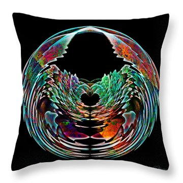Lotus In A Bowl Throw Pillow