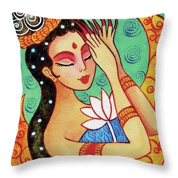 Lotus Meditation Throw Pillow