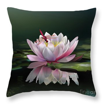 Lotus Meditation Throw Pillow