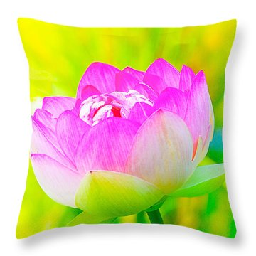 Lotus Throw Pillow by Michael Hubley
