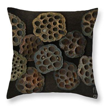 Lotus Pods Throw Pillow