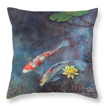 Lotus Pool Throw Pillow