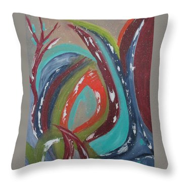 Lotus Reborn Throw Pillow