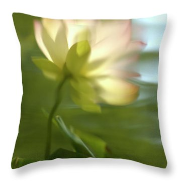 Lotus Reflection Throw Pillow