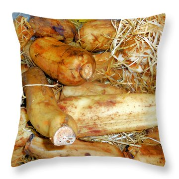 Lotus Root In Market Throw Pillow