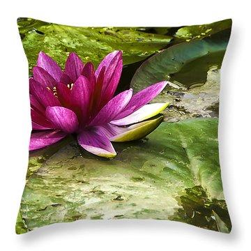 Lotus Throw Pillow by Svetlana Sewell