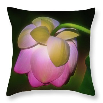 Lotus, Upside Down  Throw Pillow
