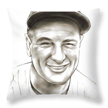 Lou Gehrig Throw Pillow