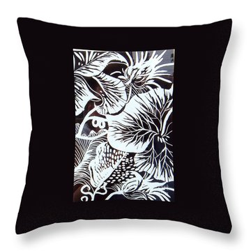 Loud Leaves  Throw Pillow