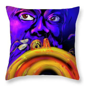 Throw Pillow featuring the painting Louie by DC Langer
