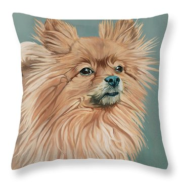 Louie The Majestic Throw Pillow