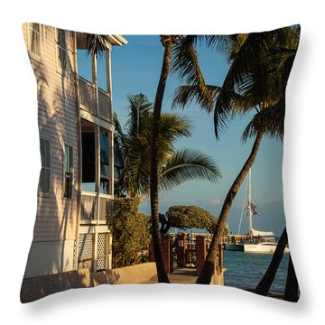 Louie's Backyard Throw Pillow