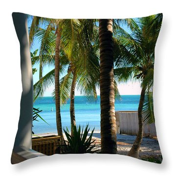 Louie's Backyard Throw Pillow by Susanne Van Hulst