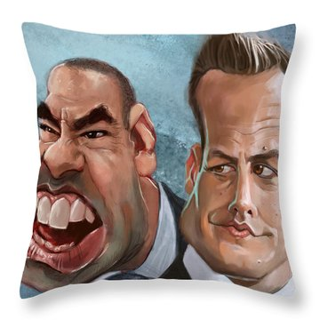 Louis And Harvey Throw Pillow