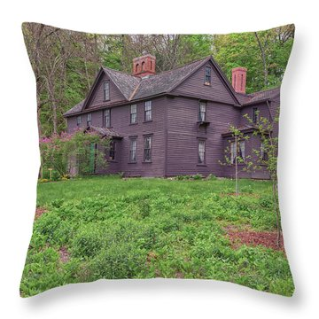 Louisa May Alcotts Orchard House Concord Massachusetts Throw Pillow