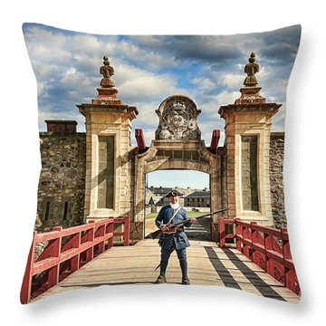 Louisbourg Fortress, Nova Scotia Throw Pillow