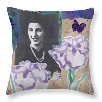 Louise In Boston 1944 In Memory Of My Mother Throw Pillow