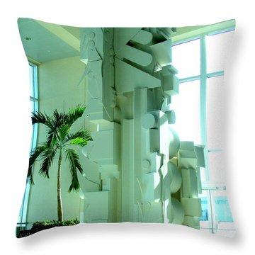 Louise Nevelson Sculpture Throw Pillow