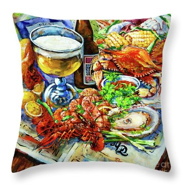 Louisiana 4 Seasons Throw Pillow