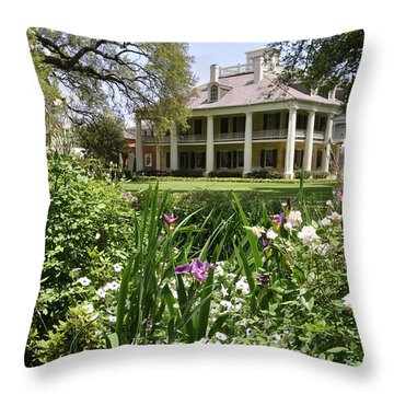 Louisiana April Throw Pillow by Helen Haw