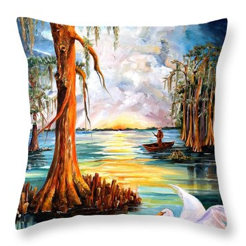 Louisiana Bayou Throw Pillow