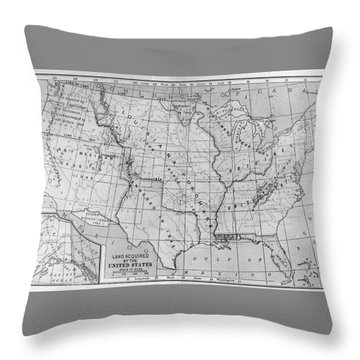 Louisiana Purchase Map Throw Pillow