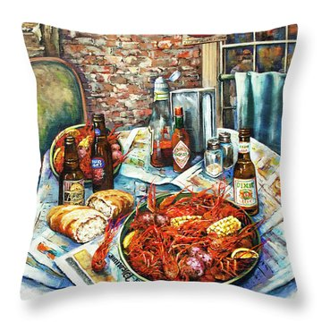 Louisiana Saturday Night Throw Pillow