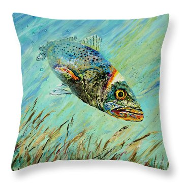 Louisiana Speckled Throw Pillow by Dianne Parks