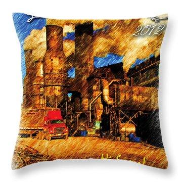 Louisiana Sugar Cane Poster 2012 Throw Pillow