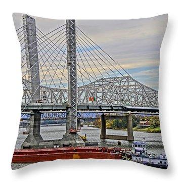 Louisville Bridges Throw Pillow by Dennis Cox WorldViews