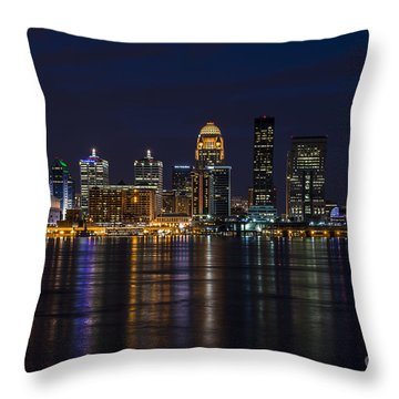 Throw Pillow featuring the photograph Louisville Skyline by Andrea Silies