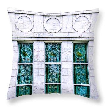 Louisville Temple Details Throw Pillow
