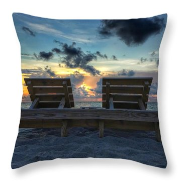 Lounge For Two Throw Pillow
