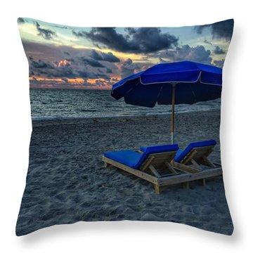 Lounging By The Sea Throw Pillow
