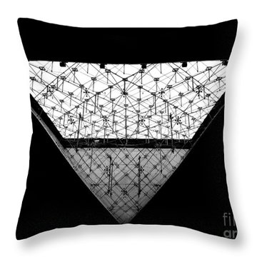 Lourve Pyramid Throw Pillow by Amar Sheow
