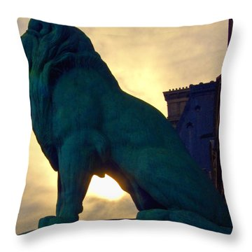 Louve Lion Throw Pillow by John Hansen