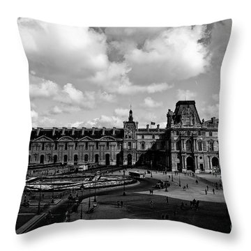 Louvre Museum Throw Pillow