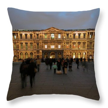 Throw Pillow featuring the photograph Louvre Palace, Cour Carree by Mark Czerniec