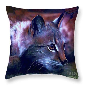 Lovable Feline Throw Pillow