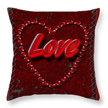 Throw Pillow featuring the digital art Love 101 by Michelle Audas